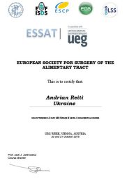 Certify European Society for surgery of the alimentary tract